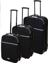 Proworld - 3-delige lichtgewicht koffer set met cijferslot - zwart