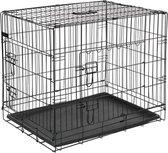 Hondenbench 92,5x57,5x64 cm metaal zwart
