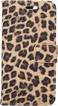 Mobigear Wallet Book Case Leopard Brown iPhone 7 / 8