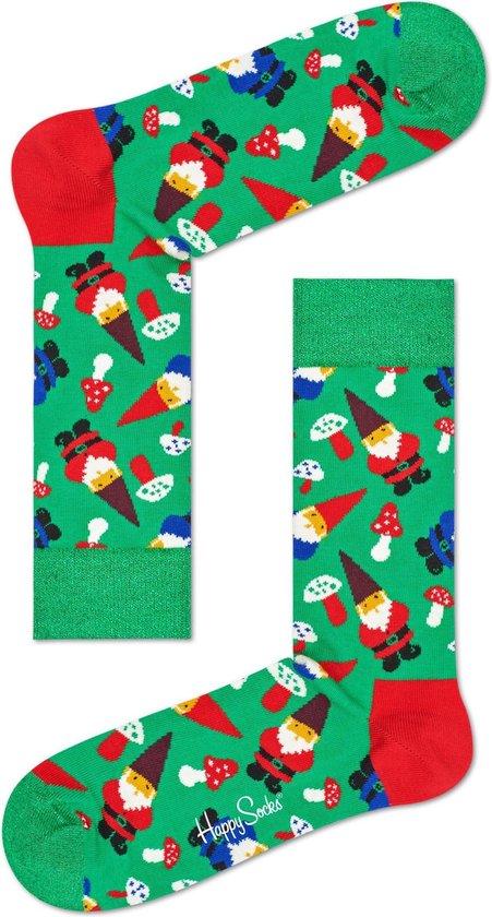 Happy Socks - Happy Holiday - kerst sokken - Garden Gnome - Groen Multi - Unisex - Maat  36-40