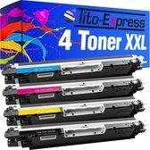 PlatinumSerie® 4 toner XXL alternatief voor HP CE310A CE311A CE312A CE313A 126A
