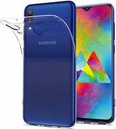 Ntech Samsung Galaxy M30 TPU Back hoesje - Transparant