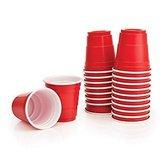 Mini Red Shot Cups - 59ml - Rood - 20 stuks