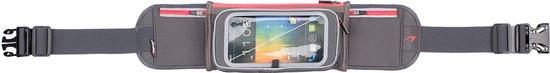 Avento Smartphone Sport Riem - Flip-Up - Grijs/Fluorroze/Zilver