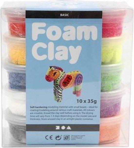 Foam Clay - Klei - Set met 10 Kleuren van 35 gr