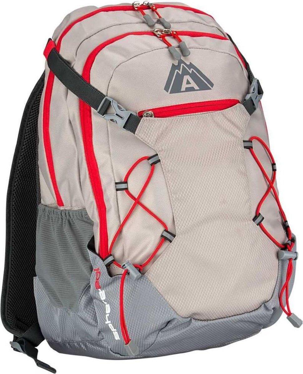 Abbey Backpack - Unisex - beige/grijs/rood
