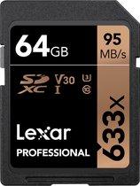Lexar Professional 633x SDHC 64GB -  95 MB/s UHS-I