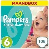 Pampers Active Baby Dry Maandbox Maat 6 – 108 luiers
