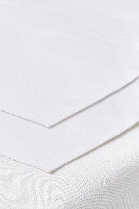 Meyco molton bedzeil 2-pack ledikant - 50x90 cm - Wit