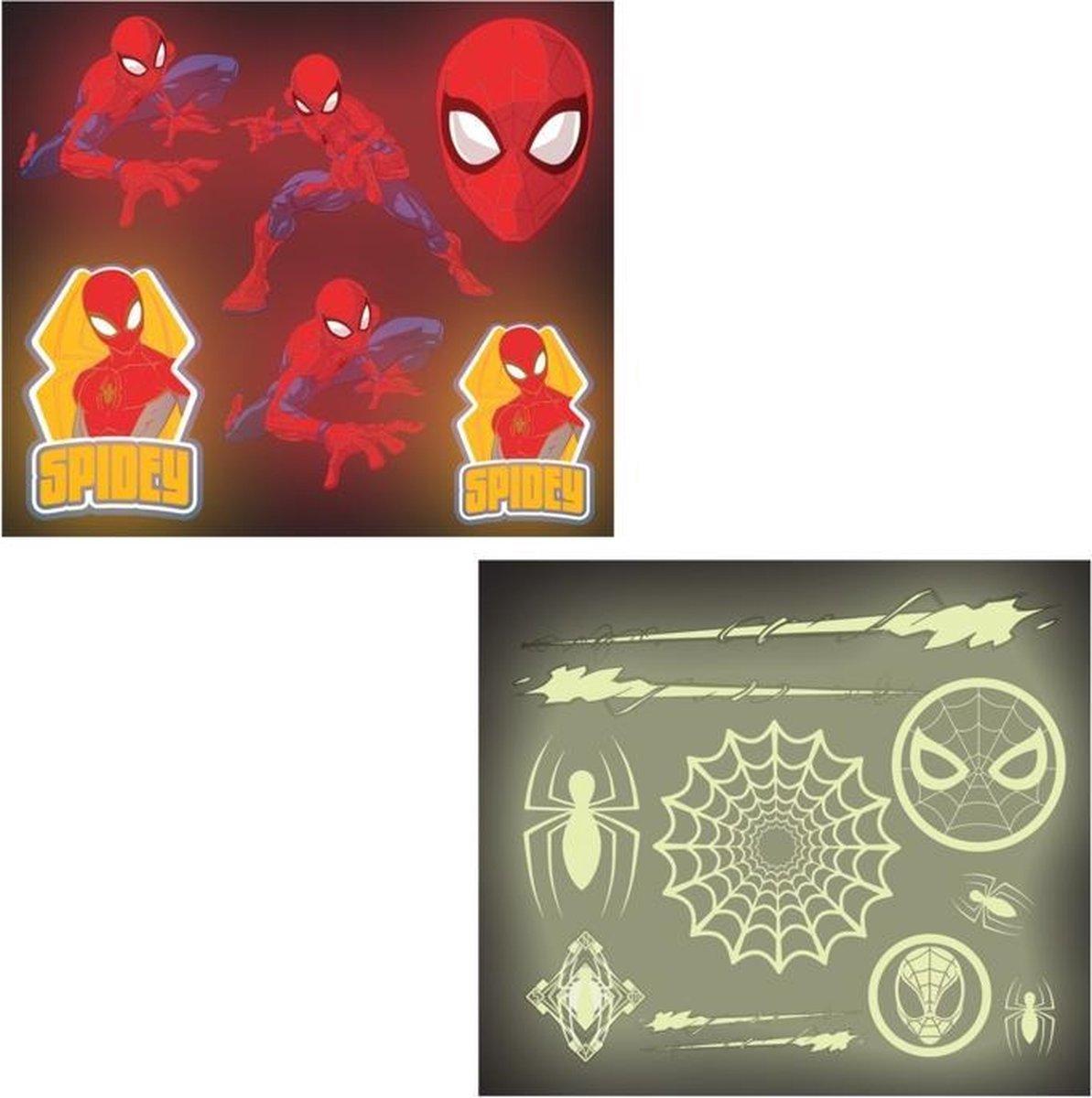Spiderman Glow In The Dark stickers