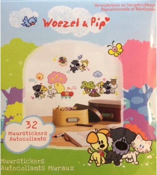 Woezel & Pip - Muursticker Tovertuin - RoomMates