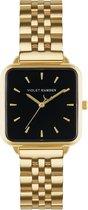 Violet Hamden The Dawn Goudkleurig/Zwart horloge  (30 mm) - Goudkleurig