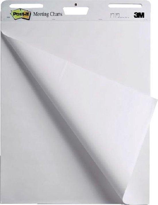 Afbeelding van Meeting chart 3M Post-it 559 63.5x76.2cm blanco