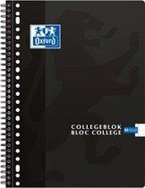 Oxford School Collegeblok - Schrijfblok - A4 - Lijn - 23 gaats - 160 pagina's - Zwart