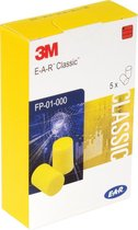 3M E-A-R Classic oordoppen. Gehoorbescherming. 5 paar in handig kartonnen  doosje.