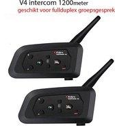 Interphone V4  - Motor communicatiesysteem - FM - 1200 Meter - 2 Stuk(s)