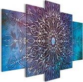 Schilderij - Hemelse Mandala , 5 luik