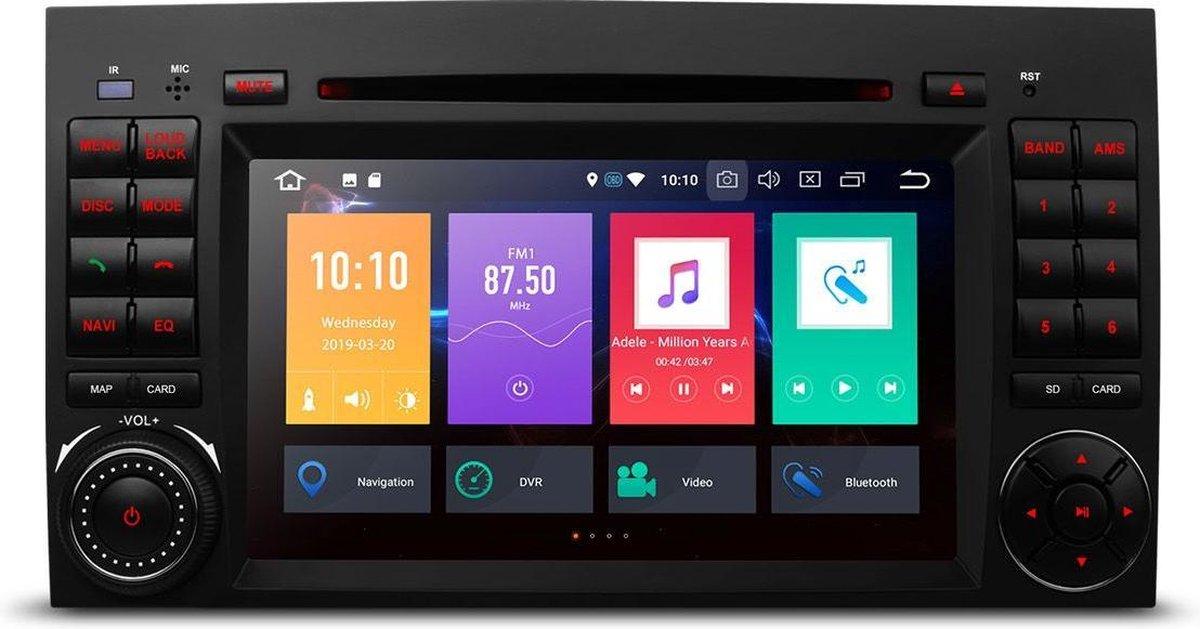 7 inch Android autoradio met navigatie voor VW Volkswagen Crafter Mercedes Benz Viano / Vito /B Class W245 /Sprinter /A Klasse W169 met Bluetooth WiFi en Touchscreen , Apple Carplay - Zwart Classic -