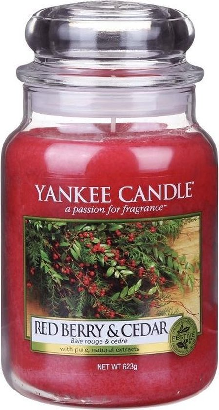 Yankee Candle Large Jar Geurkaars - Red Berry & Cedar
