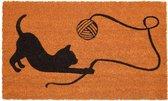 Kokosmat met spelend katje - 45 x 75 cm