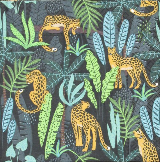 Servetten Leopards 33 x 33 cm