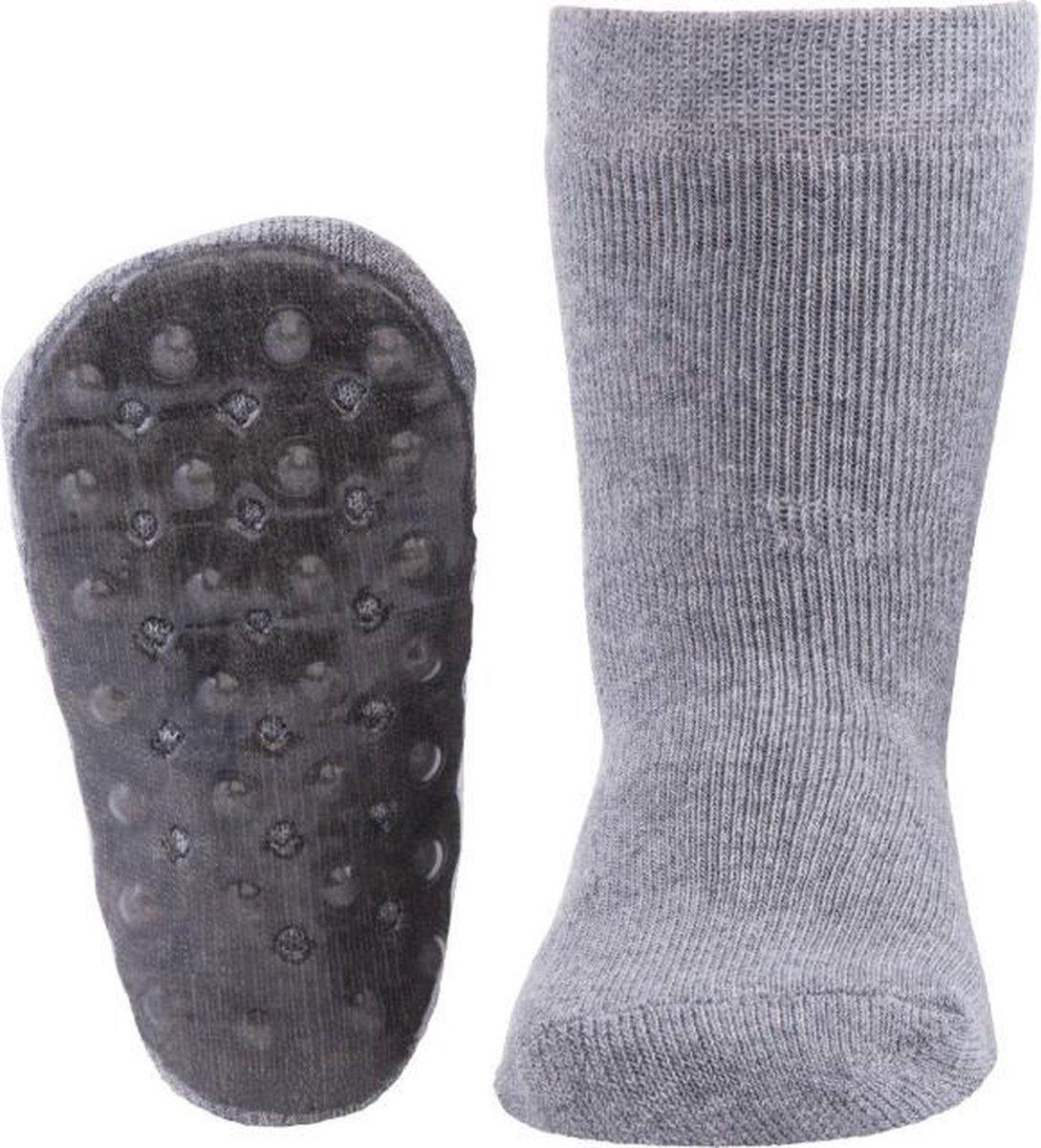Ewers anti-slip sokken Stoppi uni grijs melee Maat: 19-20 - Ewers