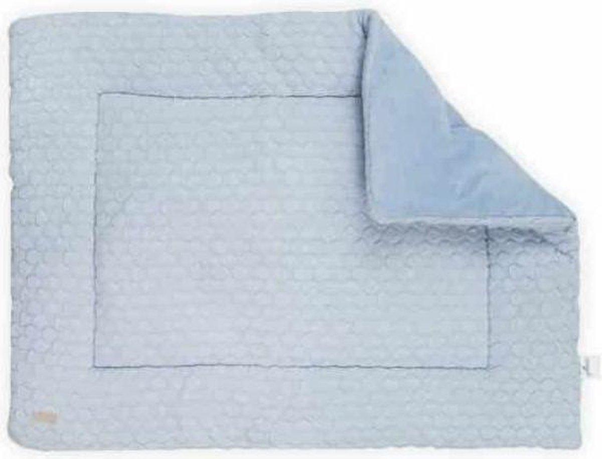 Jollein Boxkleed 80x100cm Fancy knit - baby blue