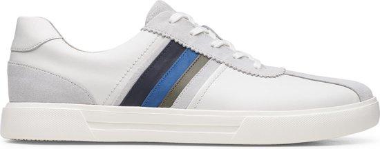 Clarks Un Costa Band Heren Sneakers - White Combi - Maat 42