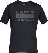 Under Armour Team Issue Wordmark SS Heren Sportshirt - Maat S - Black