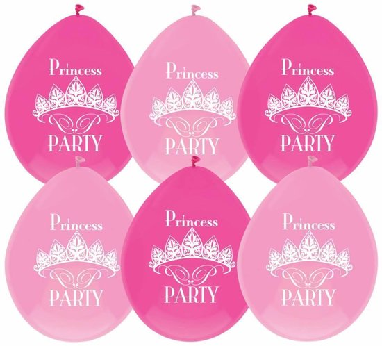 Princess Ballonnen - 6 Stuks