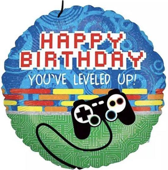 Happy birthday video game controller Folie ballon