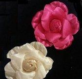 haarspeld - roos - per stuk