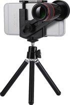 GadgetBay Universele Telelens 12x optische zoom iPhone lens - Statief - Tripod - Zwart