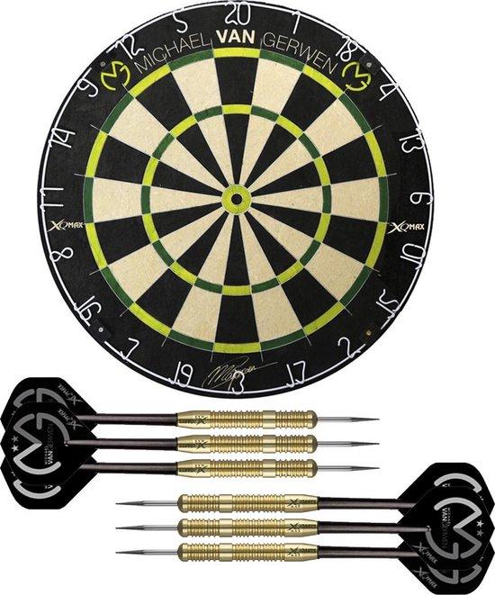 Michael van Gerwen dartbord - inclusief - Michael van Gerwen dartpijlen - compleet speciaal pakket