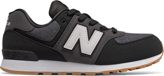 New Balance 574 Sneaker Junior Sneakers - Maat 39 - Unisex - Zwart/  grijs/wit