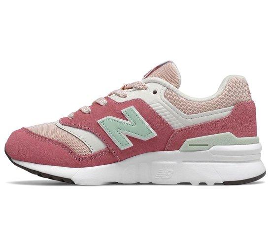 New Balance 997 Sneaker Junior Sneakers - Maat 32 - Meisjes - Roze/wit/groen