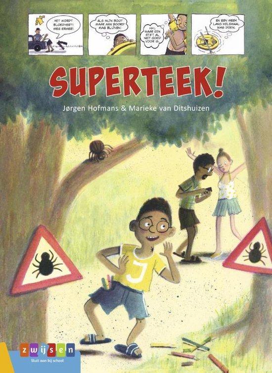 Boek cover AVI strips  -   Superteek! van Jørgen Hofmans (Hardcover)