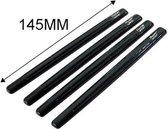 Hypersonic Set universele deurbeschermstrips 125x10mm - Zelfklevend - Zwart - Set à 4 stuks