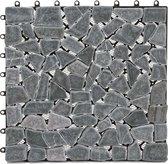 Terrastegel - Balkon tegel - natuursteen - 1 m2 -qm - 11 tegels
