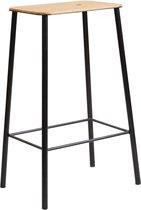 Frama - Adam Stool - Stoel - Small - Industrieel Design - Mat Zwart - Hoogte 65 centimer - Scandinavisch