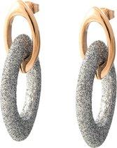 Viva jewellery strass ketting steker zilver met rosé goud