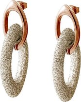 Viva jewellery strass ketting steker white opal met rosé goud