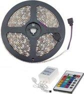 MegaFunction 5M LED RGB Strip Slang + Afstandsbediening + Voeding