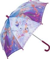 Disney Frozen kinderparaplu paars 55 cm - Paraplu voor kinderen - Frozen Elsa en Anna