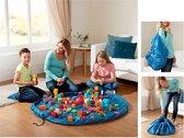Speelmat Opvouwbaar - Handige Speel mat - Ideaal voor Lego/Duplo/Blokken - Opbergzak Speelgoed opbergen