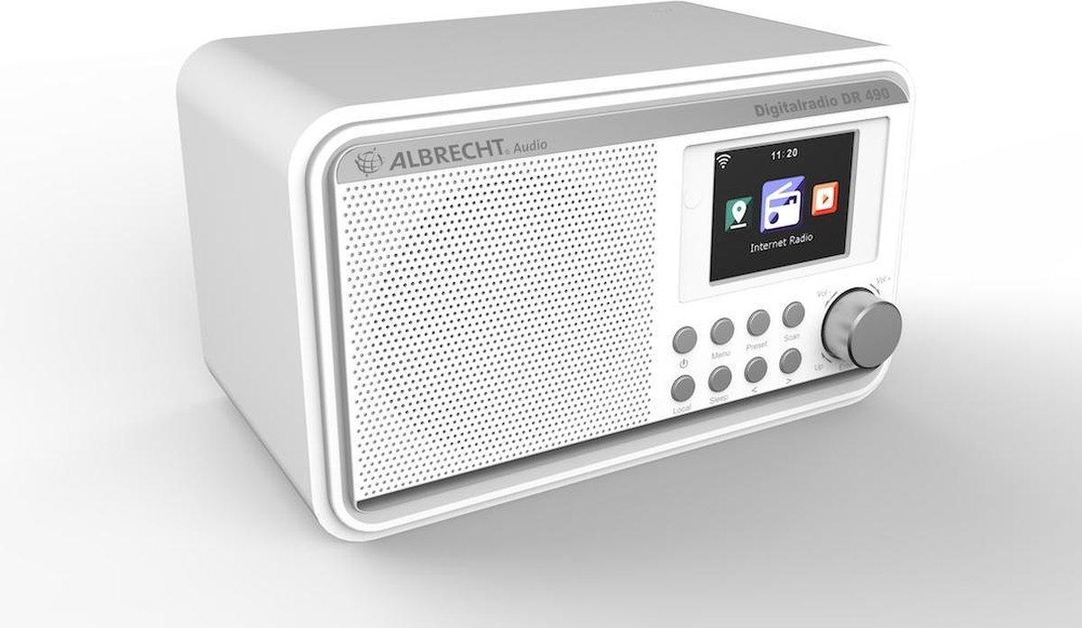 Albrecht DR 490, Hybrideradio met Internetradio, DAB+ en FM, wit