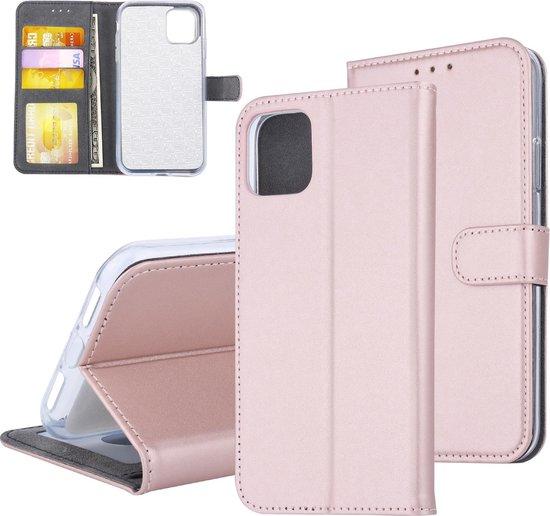 iPhone 11 Pasjeshouder Bookcase magneetsluiting - Rose Gold