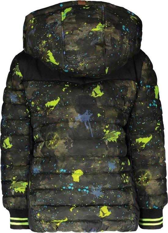 | B.Nosy Jongens Winterjas camouflage Maat 146152