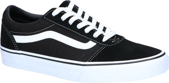 Vans Ward Suede Canvas Heren Sneakers - Black/Whit - Maat 47
