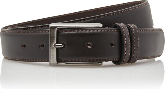 Timbelt 3,5 cm bruine pantalon riem 35577 – Maat 105 – Totale lengte riem 120 cm